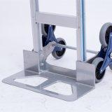 Subir escadas de seis rodas de alumínio dobrável carrinho de mão