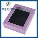 Fenêtre claire emballage noir avec logo Silver