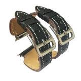 38mm konzipieren 42mm heiße verkaufendie form-doppelte Brücken schwarzes ledernes Apple-Uhrenarmband