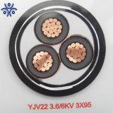 L'approvisionnement de haute qualité Yjlv Yjv souterrain de câble d'alimentation en polyéthylène réticulé (10-500mm2) Câble d'alimentation souterraine