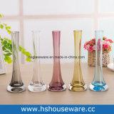 Vaso minimalista moderno di vetro della torretta del ferro della decorazione domestica trasparente