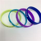 Form-einfaches gedrucktes einzelne Farbe kundenspezifisches Silikon-Armband