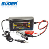 Заряжатель батареи индикации Suoer LCD всеобщий заряжатель батареи 12 вольтов (SON-1210D+)