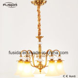 Lustre lustre lâmpada de cristal graciosa vidro lâmpada iluminação lâmpada D-6108/5