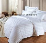 Il cotone 300tc ha barrato il lenzuolo stabilito della tessile dell'assestamento bianco dell'hotel