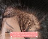 Toupee elevado da onda do corpo das luzes da cor da natureza das mulheres do cabelo 7A humano