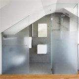 Porta do banheiro Limpar vidro fosco temperado 6 mm