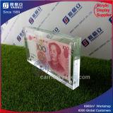 Cadre Photo acrylique clair pour les dons de billets de banque
