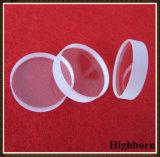 Placa polaca fundida circular clara del disco del vidrio de cuarzo