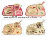 As crianças de fibra de bambu natural Conjunto Dinnerware biodegradável