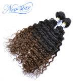 Capelli brasiliani del Virgin di Ombre del grado superiore 2 gruppi dei capelli profondi dell'onda
