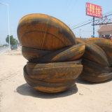 Pista elipsoidal de la instalación de tuberías del casquillo del acero de carbón del vaso de Presssure