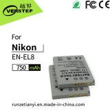 De nieuwe Decoderende Digitale Batterij van de Camera voor Engels-EL8 de Navulbare Batterij van het Lithium Nikon