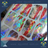 Étiquette chaude d'hologramme de laser de la vente 3D avec l'impression faite sur commande de numéro