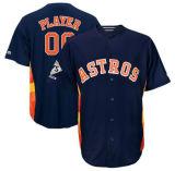 Qualquer Nome Personalizado qualquer n qualquer logotipo da equipe Homens Mulheres Crianças Houston Astros 2017 World Series Champions Base fria Custom Jersey