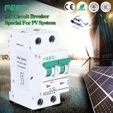 Disjuntor da C.C. Miniatrue da energia solar