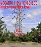 Torretta della trasmissione di tensionamento di CC di Megatro 110kv 1d10 Sj2
