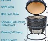 Grade cerâmica ao ar livre Kamado do BBQ do trole portátil azul