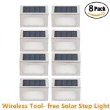 Luzes solares exterior Segurança sem fio de aço inoxidável Escada Solar Luz LED 2 Luz Solar