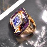 Hombres y Mujeres de la moda de oro esmaltado Anillo de dedo declaración