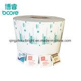 73 gramos de alcohol Prep Embalaje Pad Lámina, Alu/PE/Papel/Nucrel, China, proveedor de papel de aluminio para el Alcohol la almohadilla de Prep.