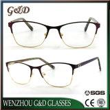 Nuevo modelo Popular gafas Gafas de Metal Marco óptica gafas