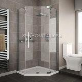 Porte en verre de douche de Frameless de salle de bains