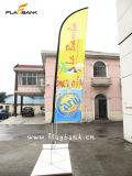 A impressão digital de alumínio de exposições de 4,5 m Feather Bandeira/Arvorando pavilhão/Praia Pavilhão
