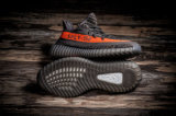 [سبورتس] [سبل-350] من [ييزي] 350 ضغط معزّز [ف2] سوداء ورماديّ [&ورنج] لون أحذية