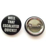 カスタム新式の金属の名前の機密保護Pinのバッジ