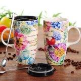 Tazza bevente dipinta a mano di caffè della tazza della tazza del regalo del gres di ceramica dipinto a mano dell'elemento