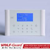 Het nieuwe GSM +PSTN Systeem van het Alarm met LCD Vertoning en het Toetsenbord van de Aanraking