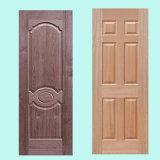 Конкурсная отлитая в форму кожа двери Veneer HDF естественная