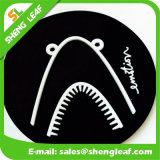 escritura de la etiqueta promocional de goma de los regalos 3D para la ropa (SLF-TM010)