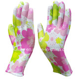 PU печатных цветов садоводство перчатки