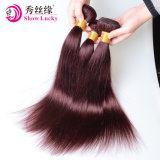 速い配達卸売の人間の毛髪の拡張Weft中国のRemyの人間の毛髪の着色された赤く深い波の毛