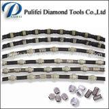 Каменное вырезывание диаманта профилируя провод гранита алмазных резцов веревочки увидело