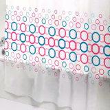 다채로운 원형 PEVA는 목욕탕을%s 샤워 커튼을 방수 처리한다