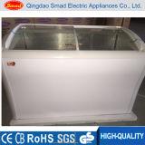 Indicador de vidro curvado do congelador do gelado
