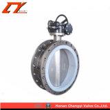 El precio bajo la válvula de agua de acero inoxidable con bridas