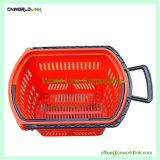 45L de Supermercados la canasta de apilamiento de plástico con ruedas