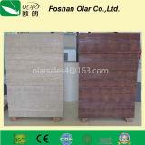 Textura de madeira com peso leve Placa / painel de revestimento de silicato de cálcio