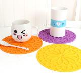 Garniture molle de couvre-tapis de silicones de PVC de décorations à la maison pour la cuvette de café