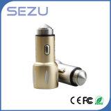 2 в 1 двойном заряжателе автомобиля USB непредвиденный с молотком безопасности металла для iPhone и Samsung