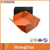 Ropa magnética de la visualización del regalo del papel del encierro que empaqueta el rectángulo plegable