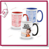 15oz Sublimation Ceramic Customized Mug Rim e Handle Color