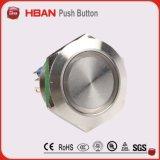30mm marcação UL Super LED de Cabeça Plana Interruptor de Botão de pressão de Metal