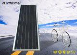 Luz de rua solar clara ao ar livre esperta do diodo emissor de luz com de controle remoto