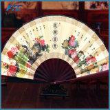 Cerimonia nuziale resa personale favori piegante del ventilatore della mano della seta di colore della miscela