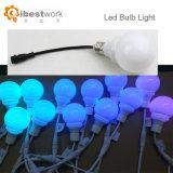 Lampe de l'éclairage LED RVB DMX de décoration d'usager de lumière d'ampoule de RVB DEL